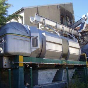 Prensa de membrana Pera PN 240 de segunda mano, instalacioncompleta con sinfin, reserva de aire