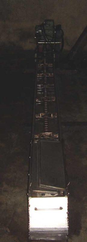 cinta inox transportadora con cadena usada