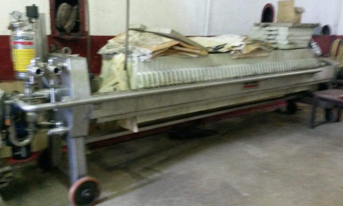 Filtro prensa Della Toffola 600x600 segunda mano
